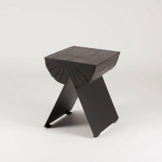 ½ Wooden Stool Black-29554