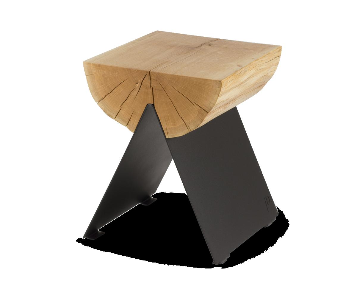 ½ Wooden Stool Black-0