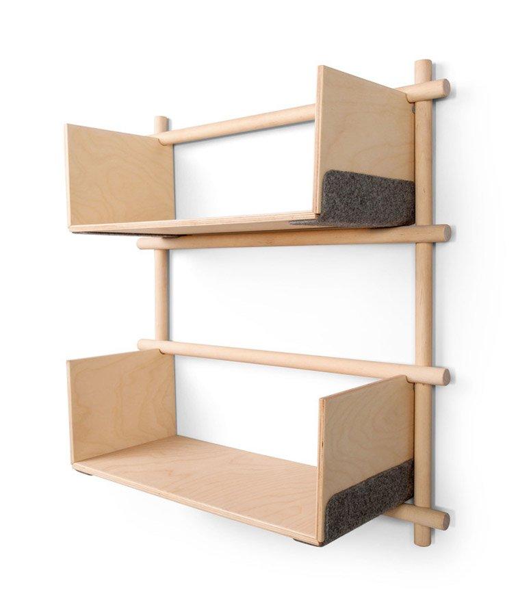Foldin, Wall Mounted Modular Bookcase-29892