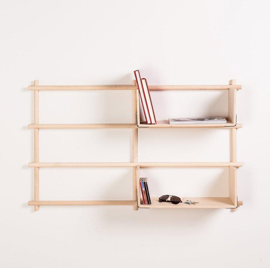 Foldin, Wall Mounted Modular Bookcase-29886