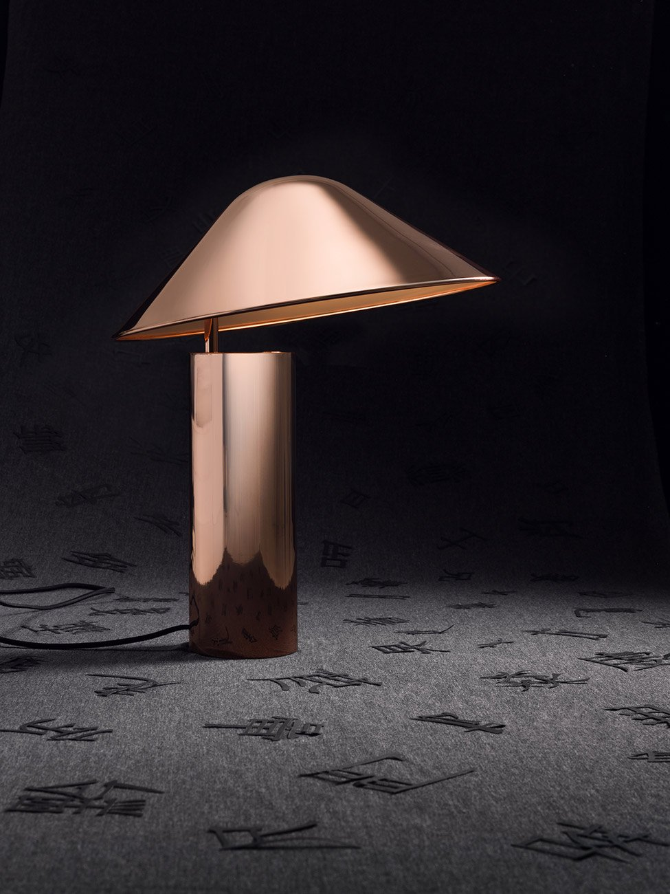 Damo Table Lamp, Copper-30070