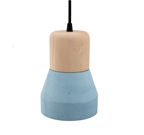 Cement Wood Lamp, Azure-0