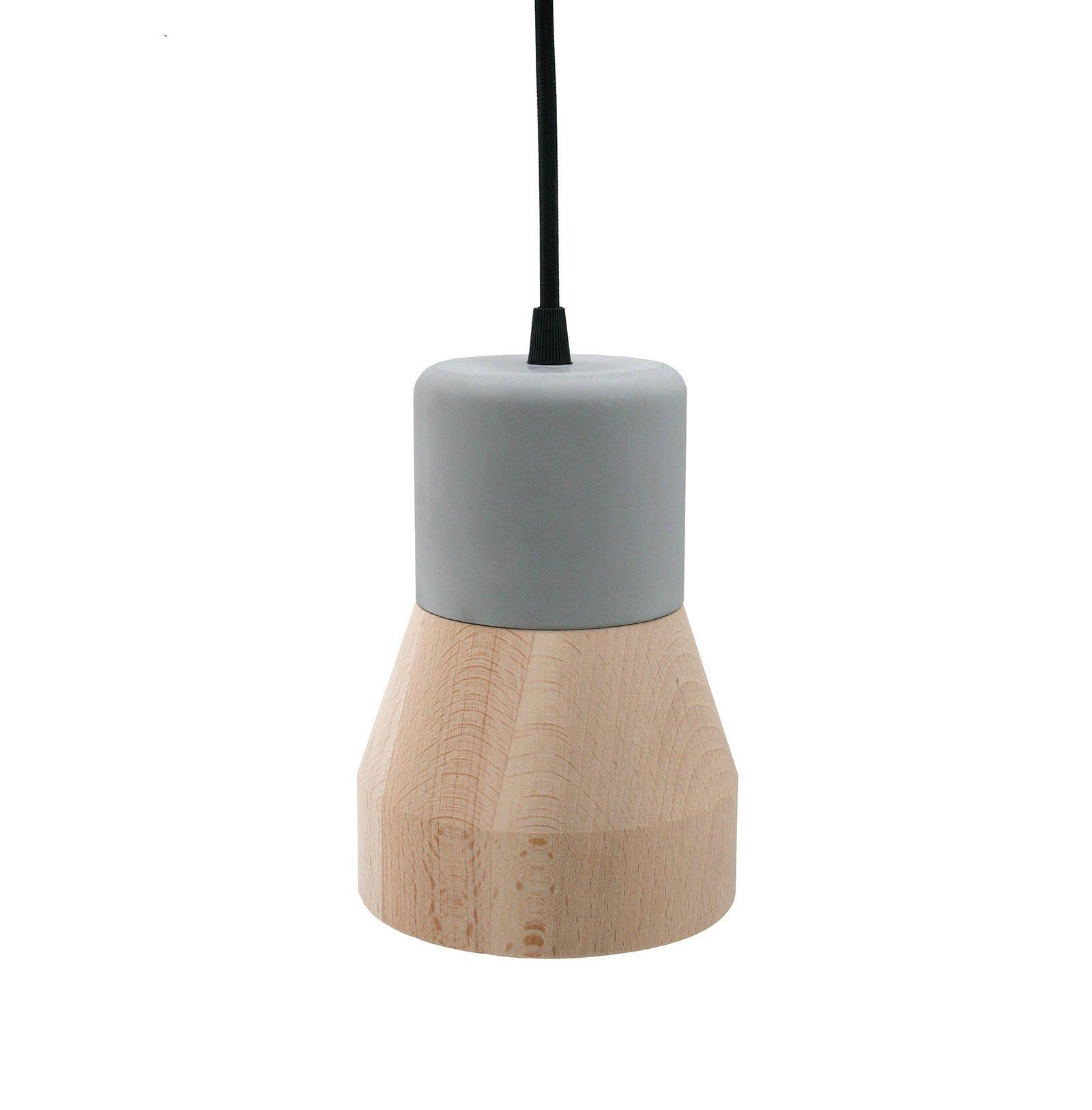 Cement Wood Lamp, Beech-30610