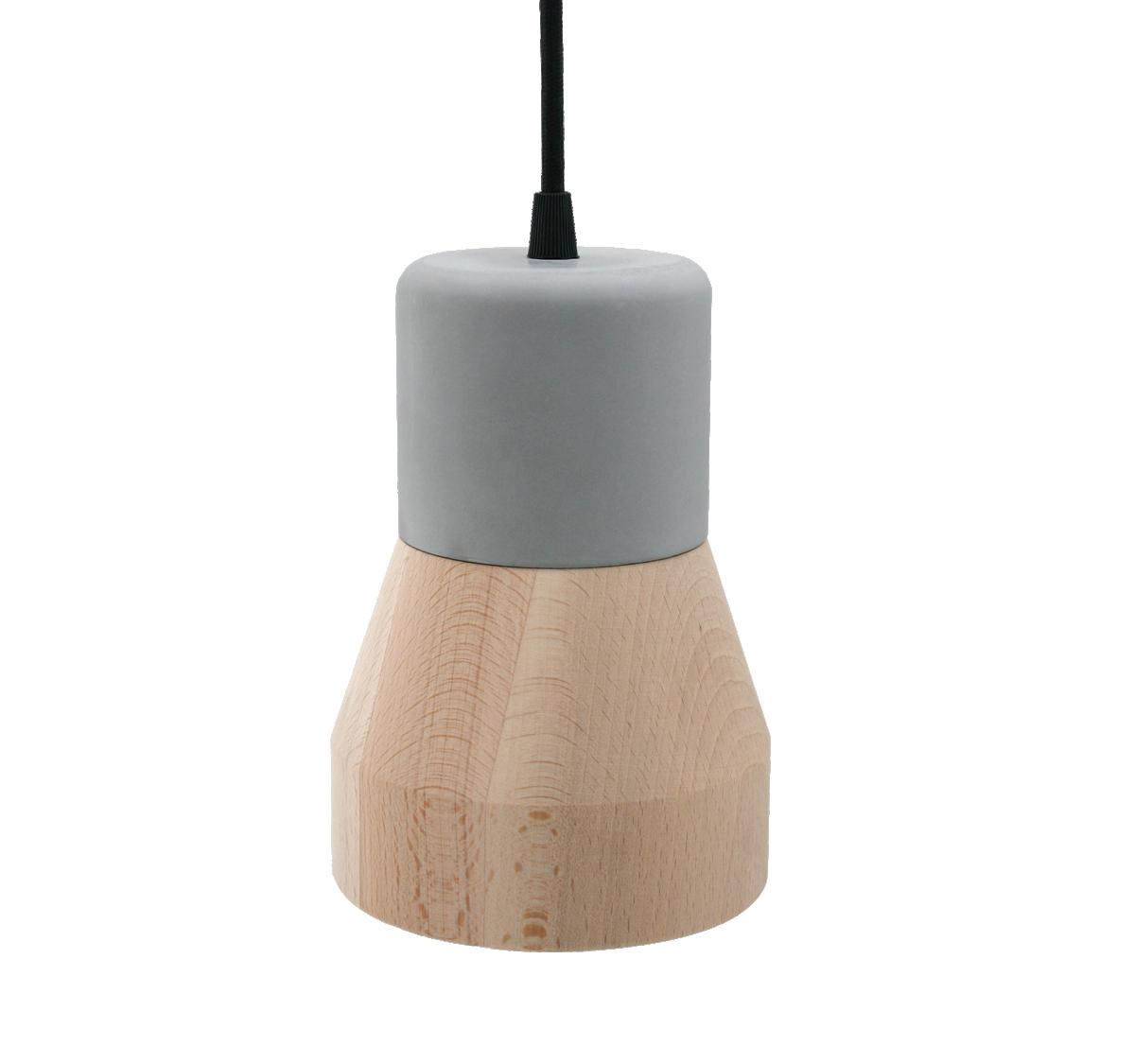 Cement Wood Lamp, Beech-0