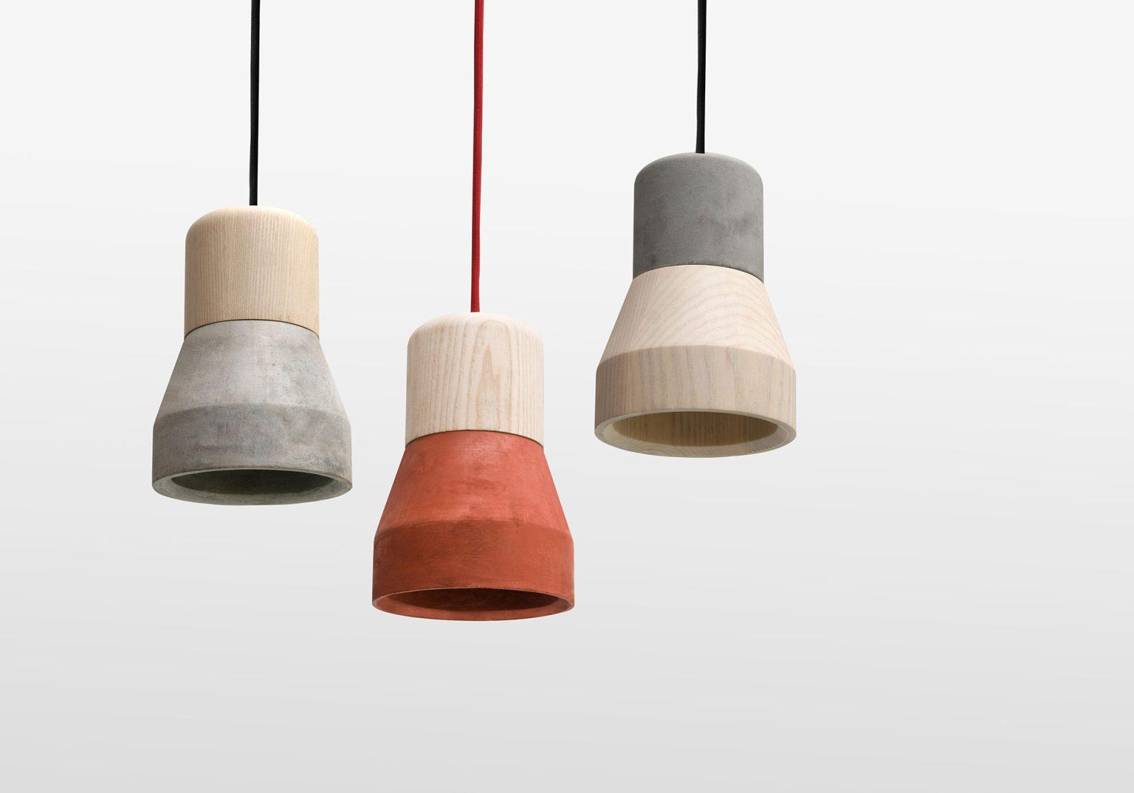 Cement Wood Lamp, Smoke-30601