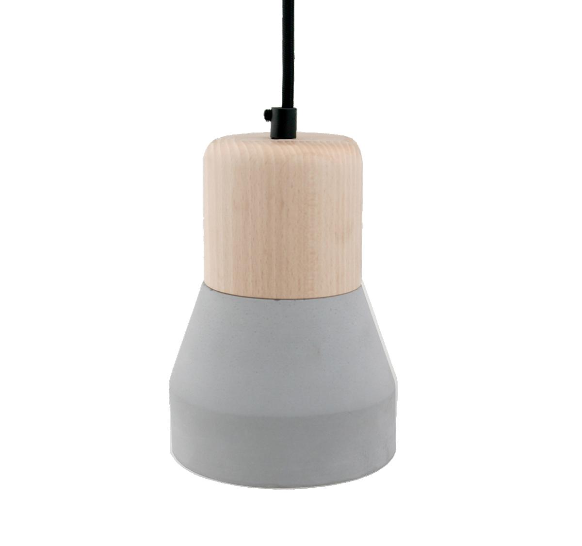 Cement Wood Lamp, Smoke-0