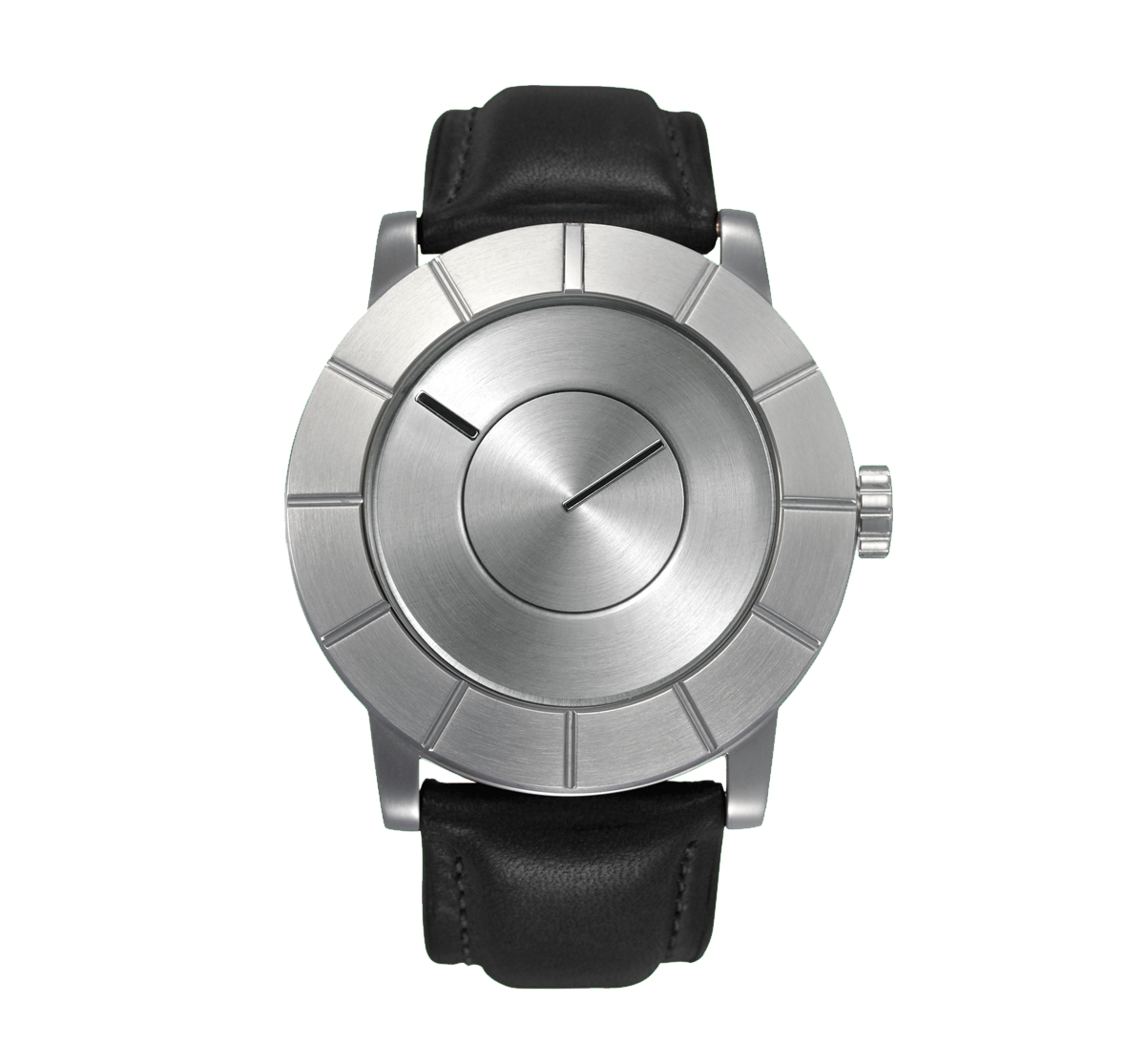 Issey Miyake TO Automatic Men's Silver Watch, Black Leather-0