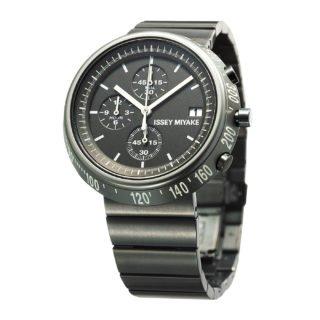 Issey Miyake Trapezoid Grey Watch, Steel-30689