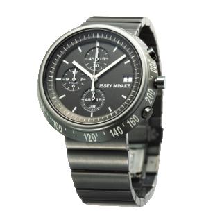 Issey Miyake Trapezoid Grey Watch, Steel-0