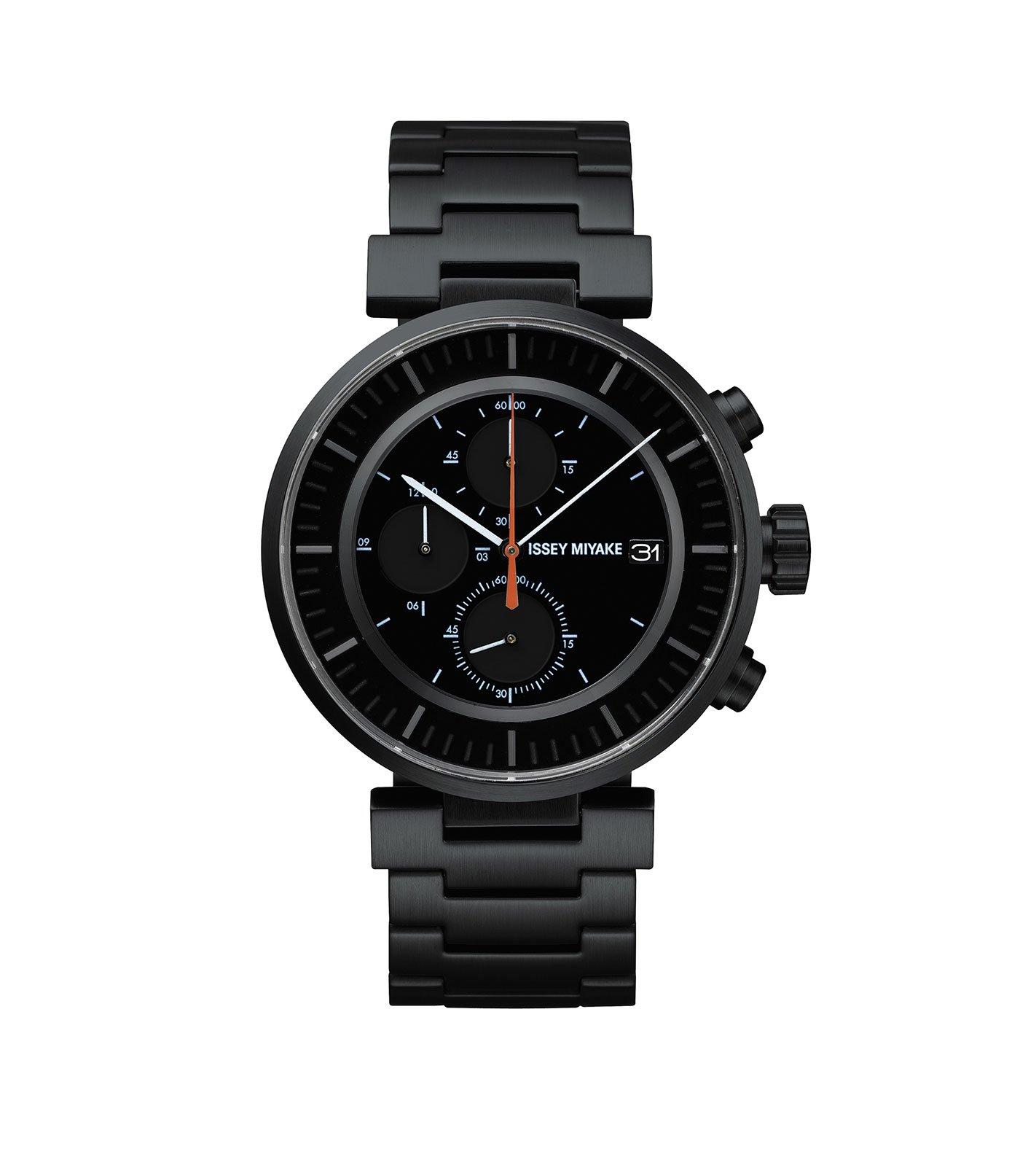 Issey Miyake W Black Chronograph Watch, Steel-30674