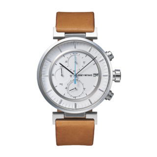 Issey Miyake W White Chronograph Watch, Natural Leather-0
