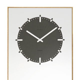 LEFF Amsterdam Inverse Mirror Clock, Black-30357