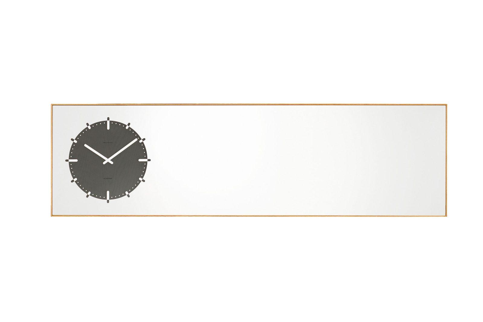 LEFF Amsterdam Inverse Mirror Clock, Black-30360