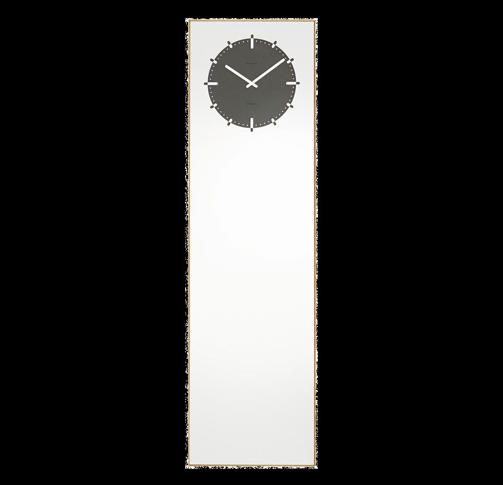 LEFF Amsterdam Inverse Mirror Clock, Black-0