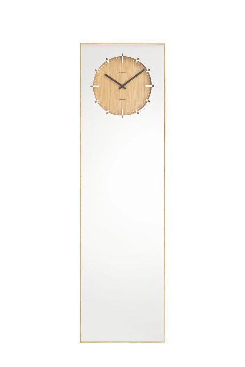 LEFF Amsterdam Inverse Mirror Clock, Natural-30366