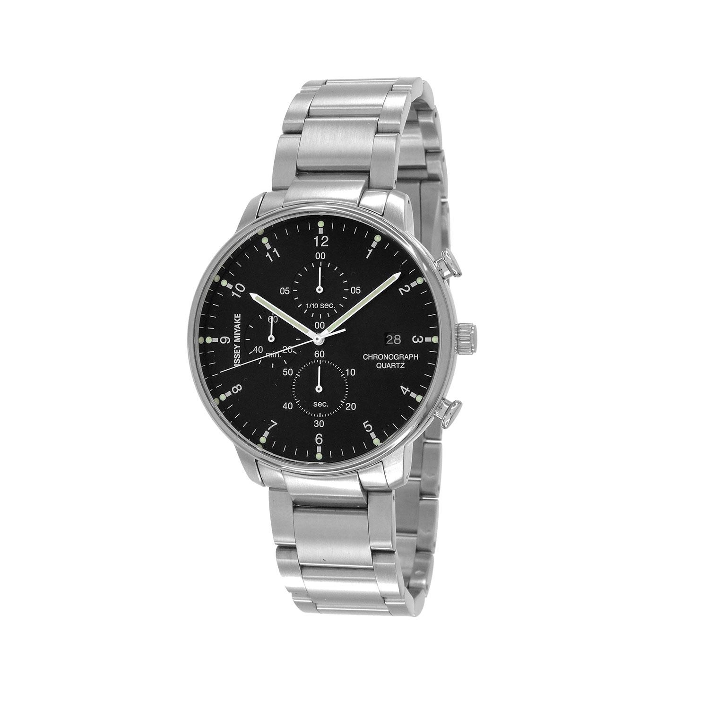 Issey Miyake C Black Chronograph Watch, Steel-30723