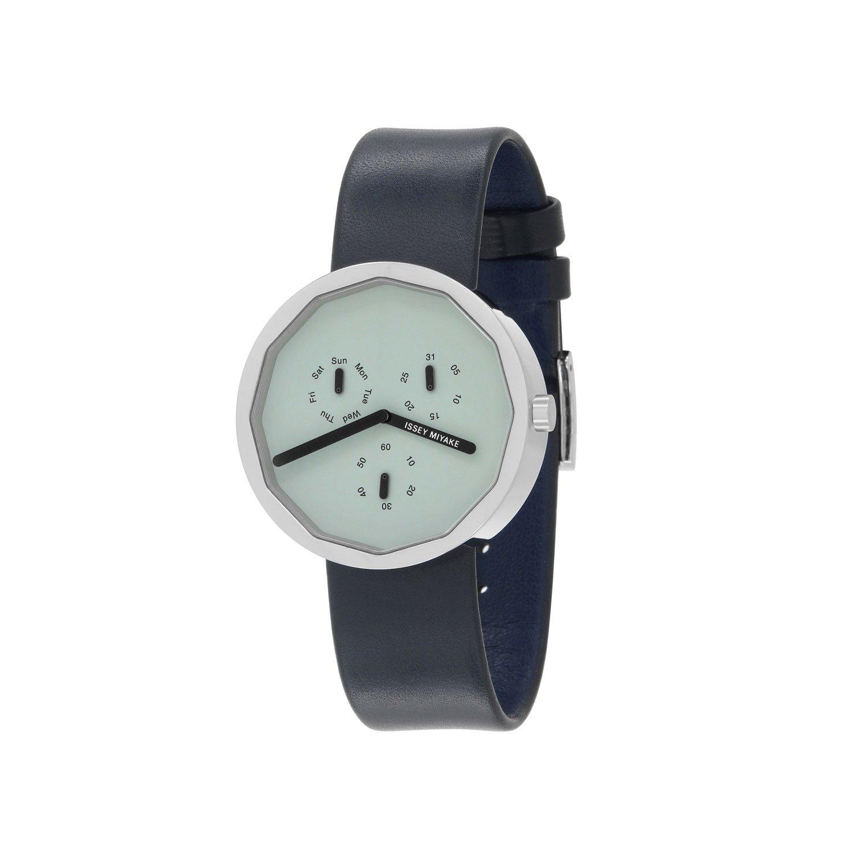 Issey Miyake Twelve 365 Grey Watch, Silver/Leather-30739