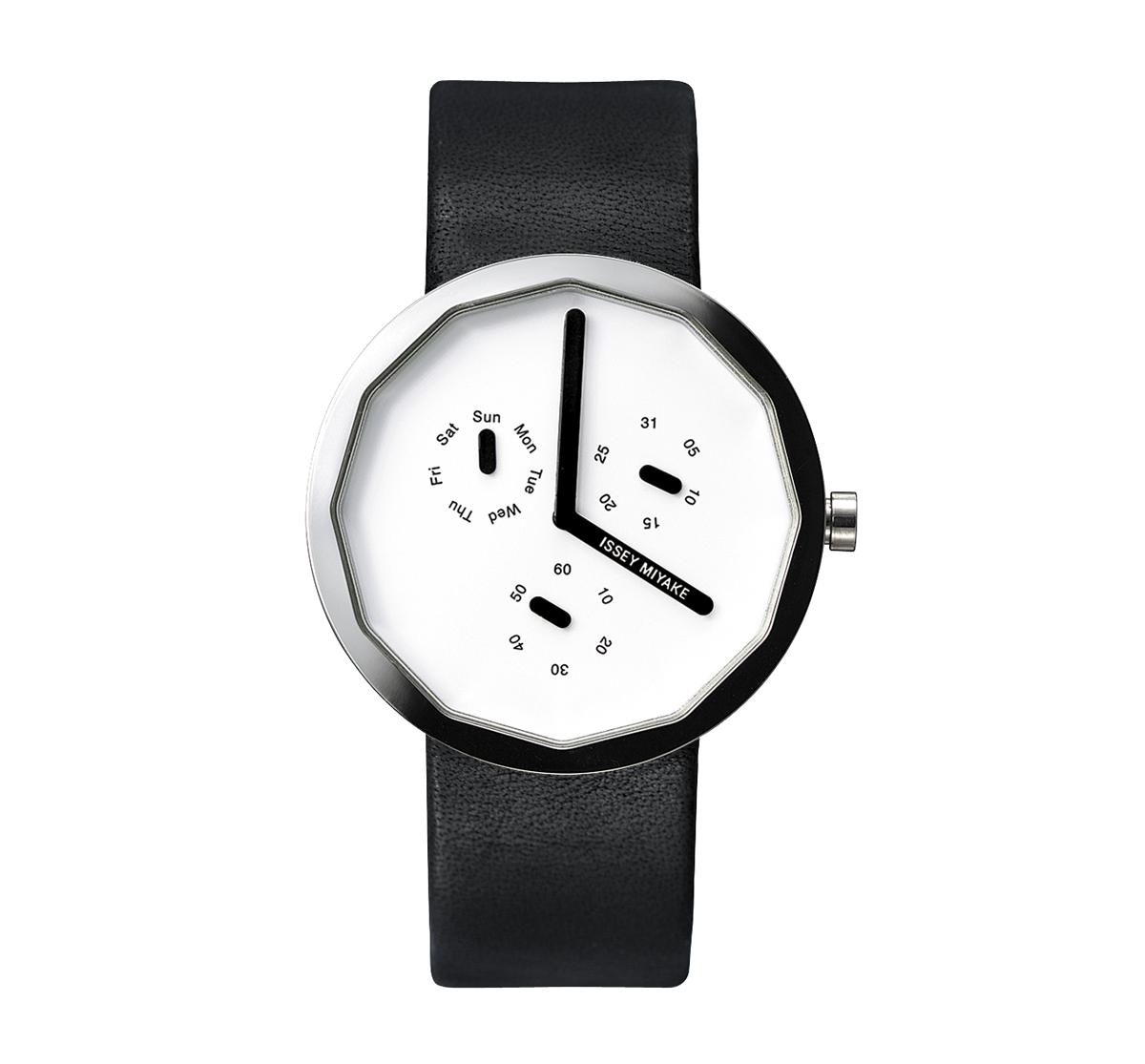 Issey Miyake Twelve 365 White Watch, Silver/Leather-0