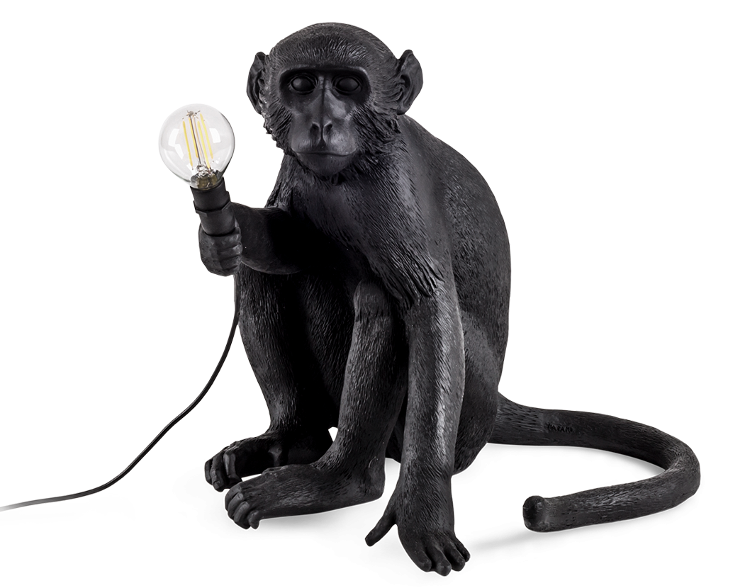 Seletti Outdoor Monkey Lamp, Sitting -0