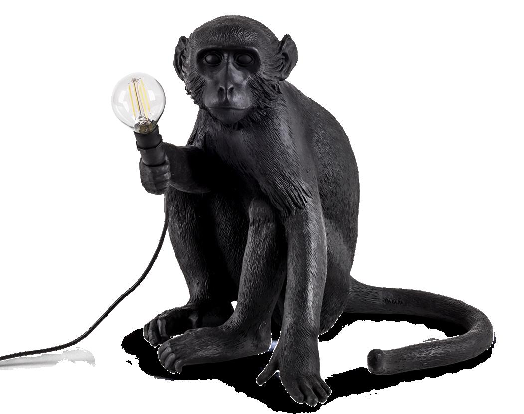 Seletti Outdoor Monkey Lamp, Sitting -0