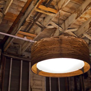 Drum 24 Scraplight Natural Pendant Light-31406