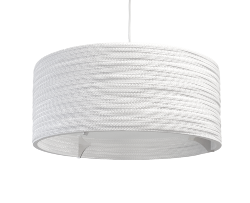 Drum 24 Scraplight White Pendant Light-0