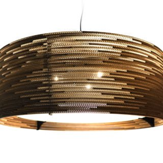Drum 36 Scraplight Natural Pendant Light-31414