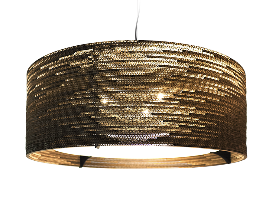 Drum 36 Scraplight Natural Pendant Light-0
