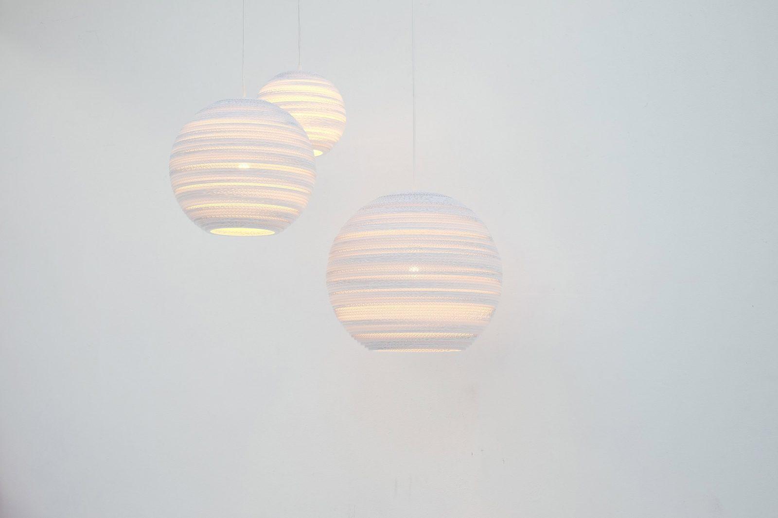 Moon 10 Scraplight White Pendant Light-31520