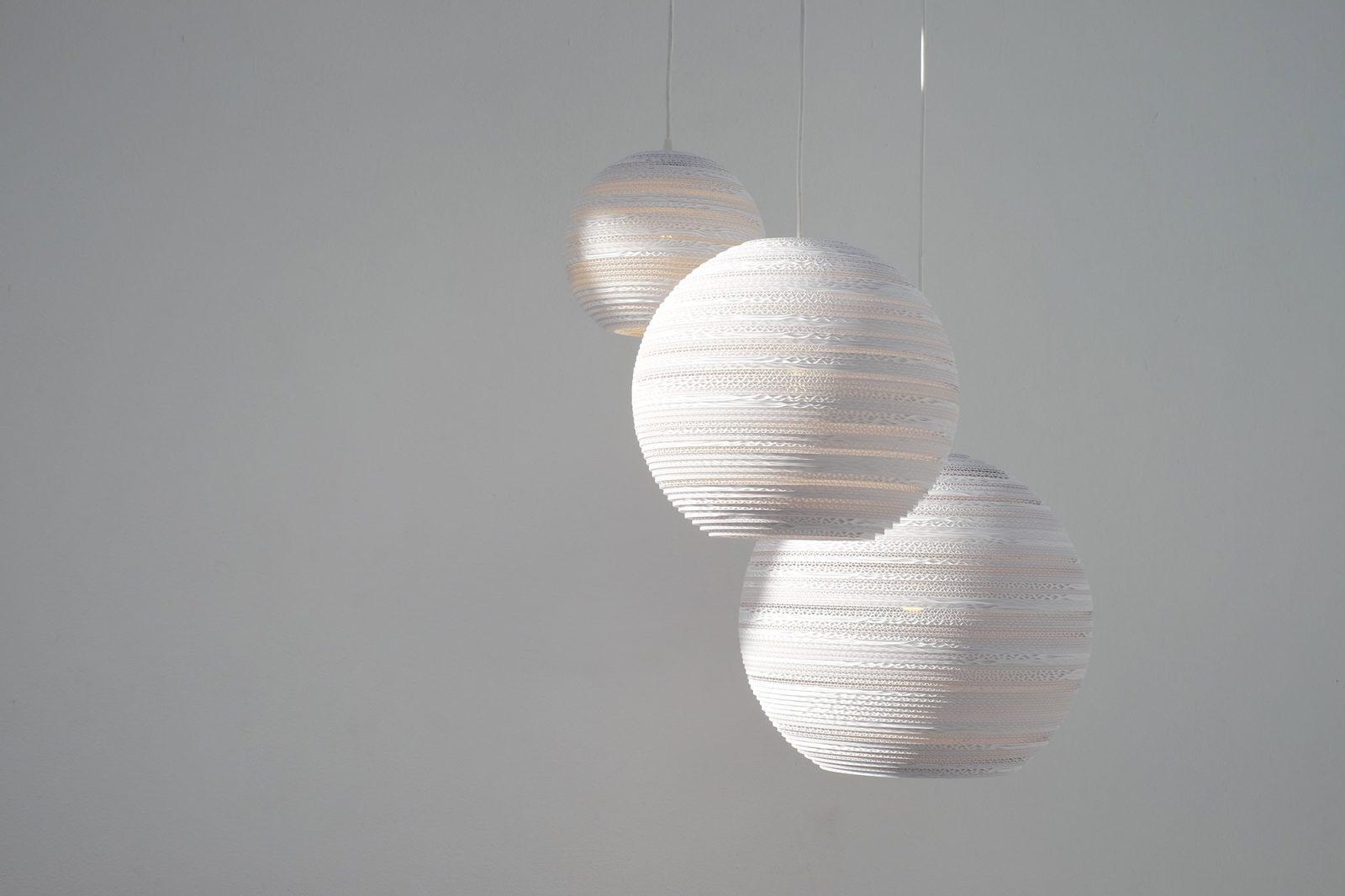 Moon 14 Scraplight White Pendant Light-31534