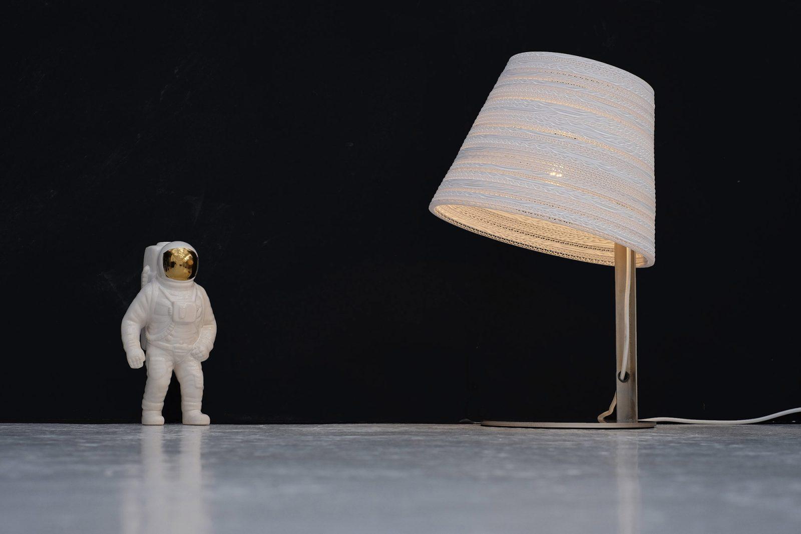 Tilt Scraplight White Table Lamp-31585