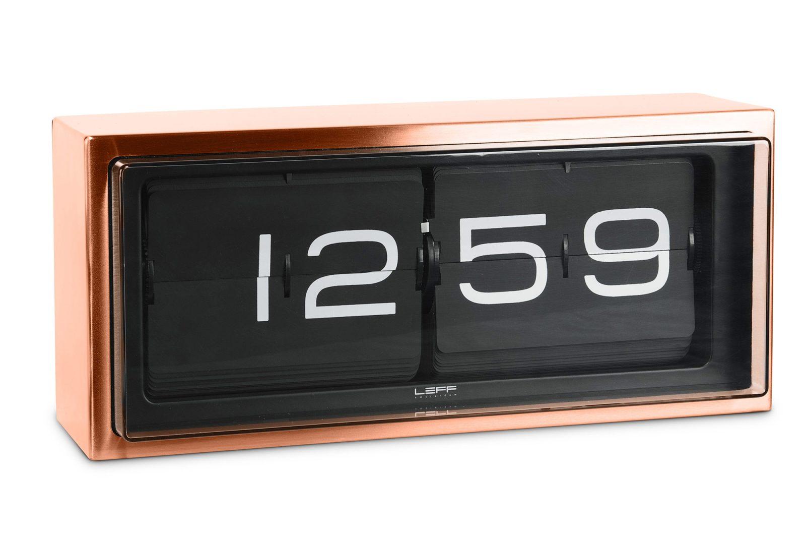Brick Wall/Desk Clock, Copper – Black Face-31713