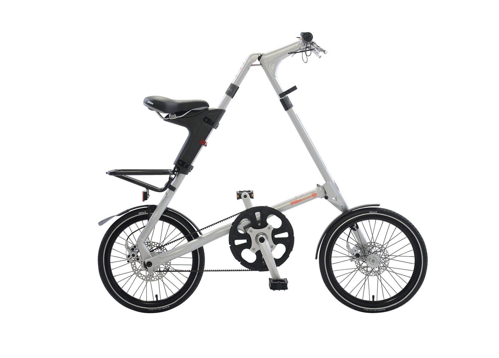 STRiDA EVO Folding Bicycle, Brushed Silver-31720