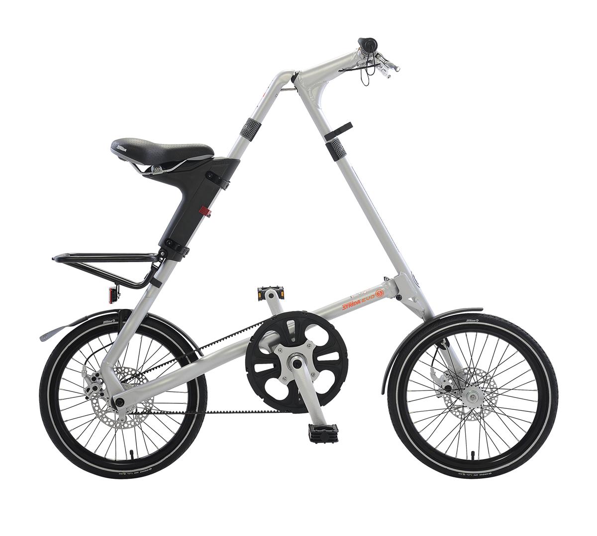 STRiDA EVO Folding Bicycle, Brushed Silver-0