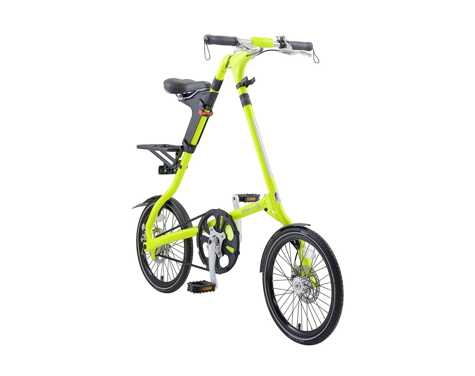 STRiDA EVO Folding Bicycle, Neon Yellow-31725