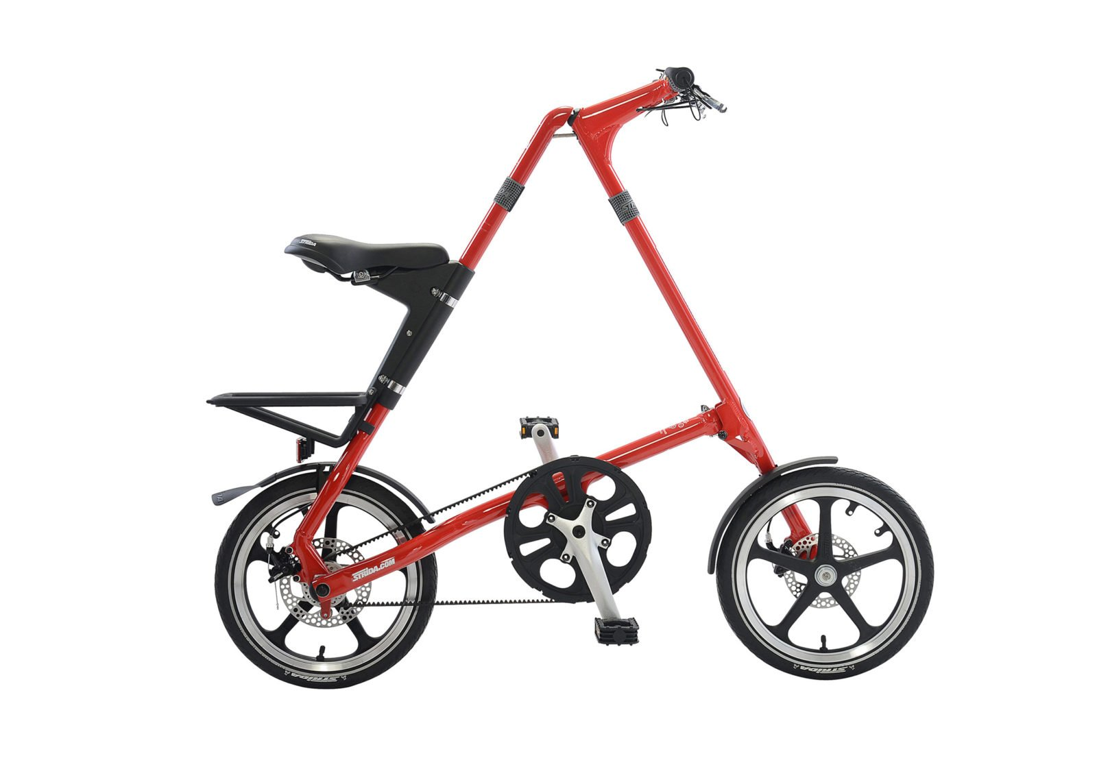 STRiDA LT Folding Bicycle, Red-31734