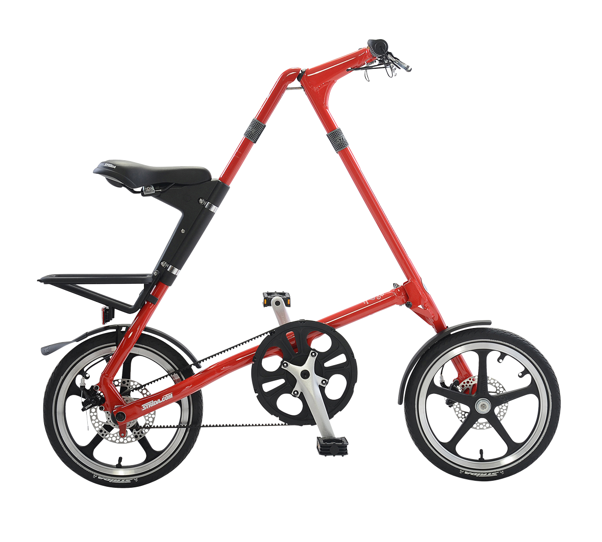 STRiDA LT Folding Bicycle, Red-0