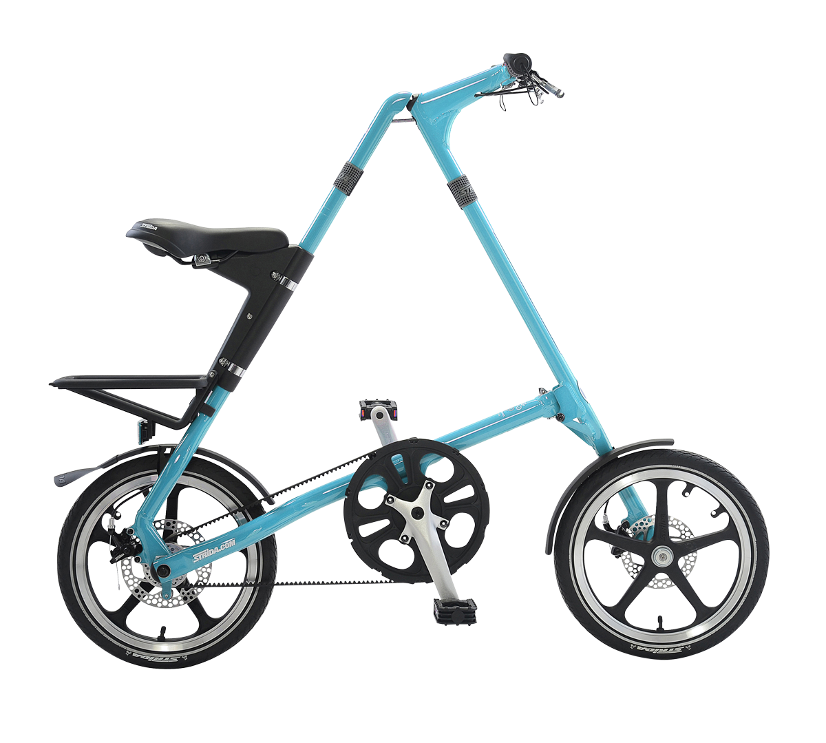 STRiDA LT Folding Bicycle, Turquoise-0
