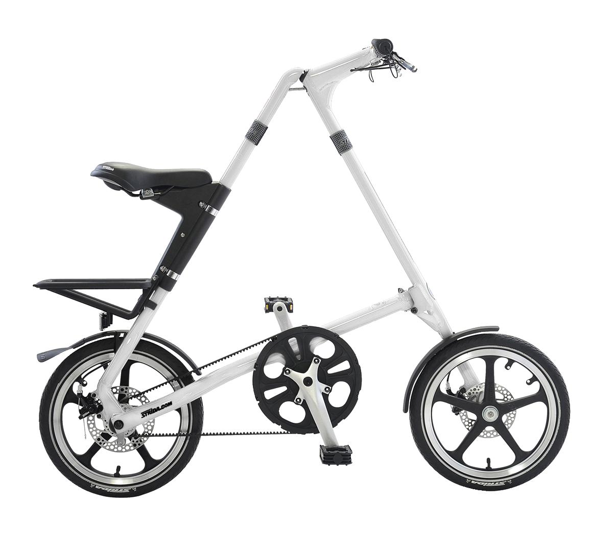 STRiDA LT Folding Bicycle, White-0