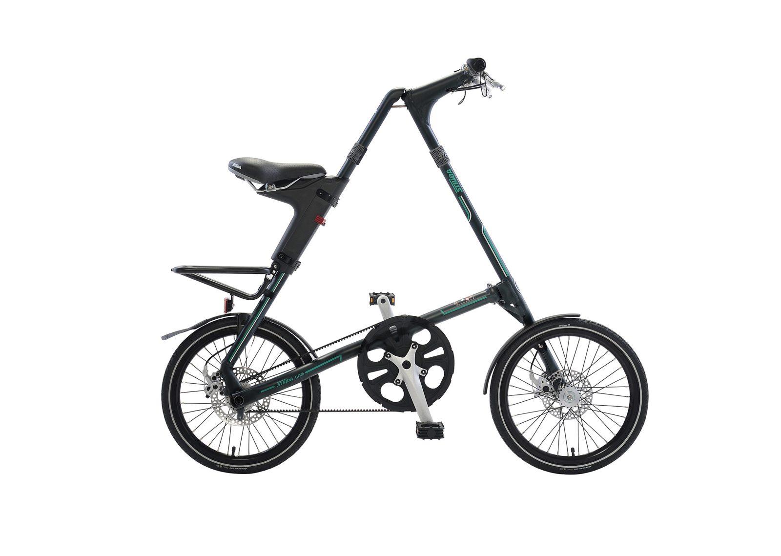 STRiDA SX Folding Bicycle, Black-31750