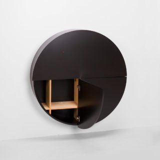 Pill, Wall Mounted Desk in Black-31984