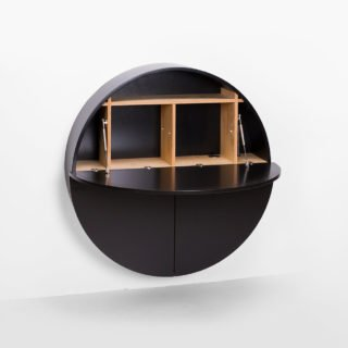 Pill, Wall Mounted Desk in Black-31985
