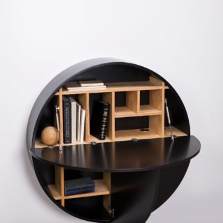 Pill, Wall Mounted Desk in Black-31983