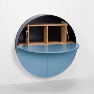 Pill, Wall Mounted Desk in Blue-31981