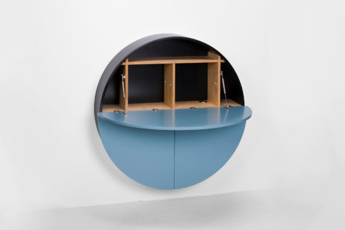 Pill, Wall Mounted Desk in Blue-31981