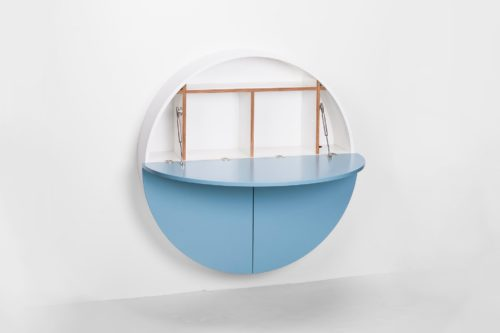 Pill, Wall Mounted Desk in Blue-31975