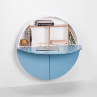 Pill, Wall Mounted Desk in Blue-31979