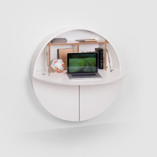 Pill, Wall Mounted Desk in White -31972