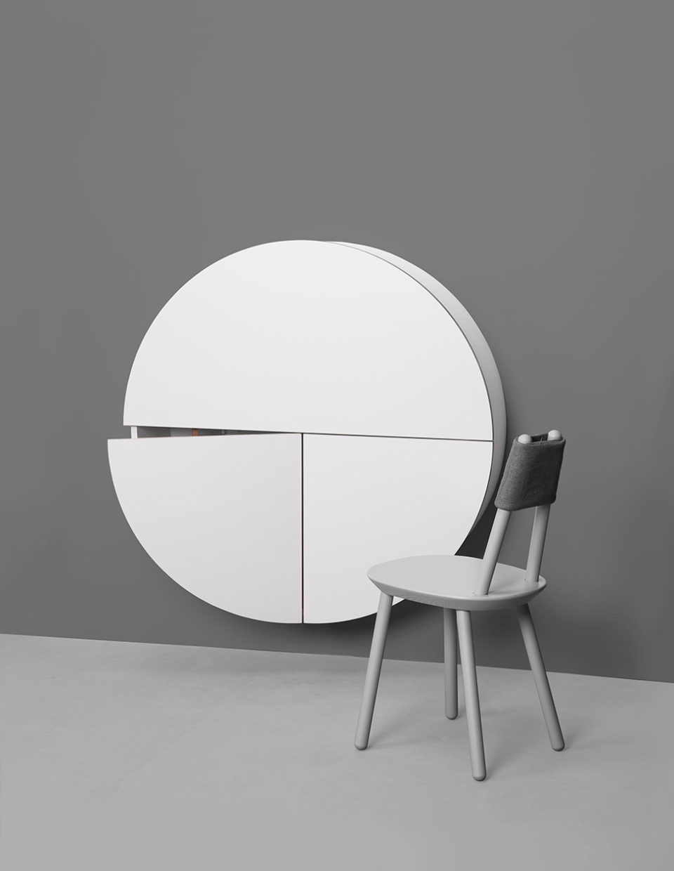 Pill, Wall Mounted Desk in White -31967