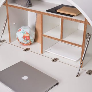 Pill, Wall Mounted Desk in White -31970